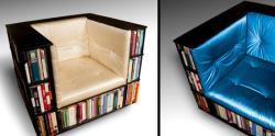 هم صندلی هم کتابخانه